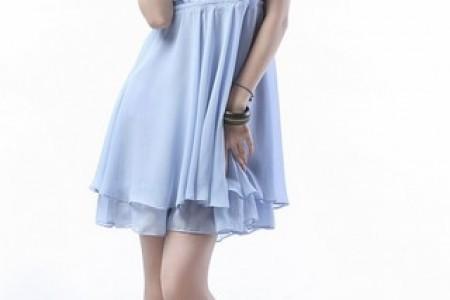 优雅的蓝色连衣裙系列