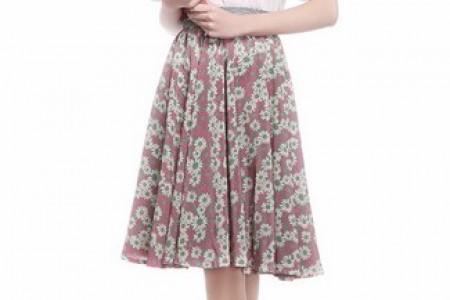 一条裙子,碎花,香花