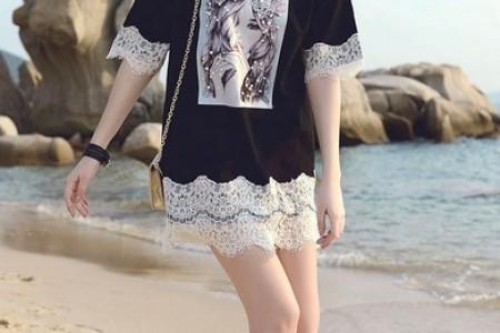 清爽t恤裙,夏日休闲