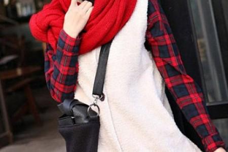 针织围巾时尚美观