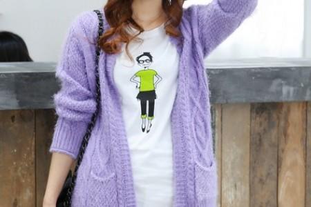 厚实的针织毛衣既漂亮又保暖