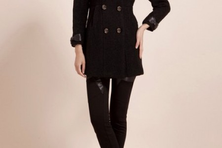 秋季采取第二种款式:外套+长毛衣