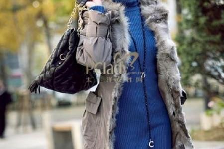 今年流行的棉大衣搭配