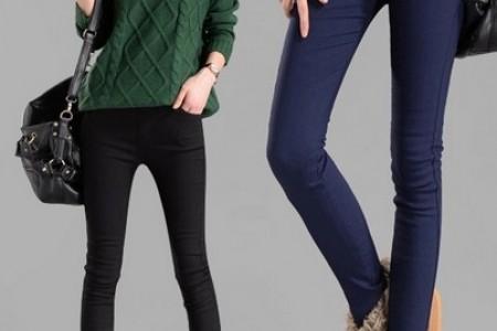 天鹅绒铅笔裤,美腿外露!