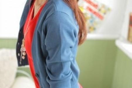 半袖针织衫的俏皮搭配