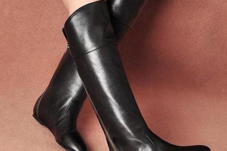 各种带打底裤的靴子