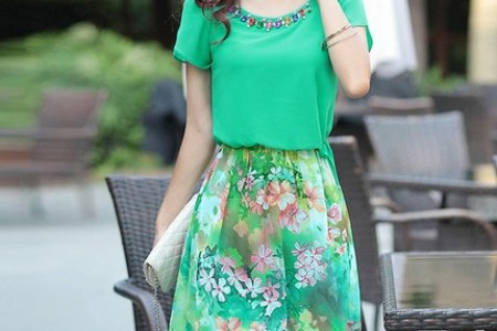 诗意的绿色裙子