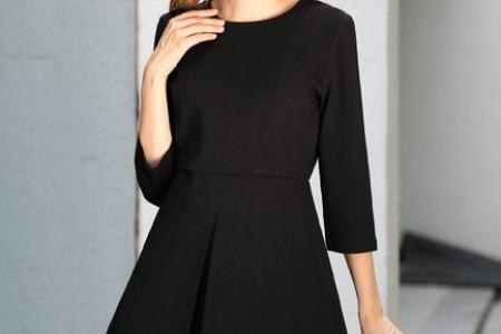 秋季必备气质黑色连衣裙
