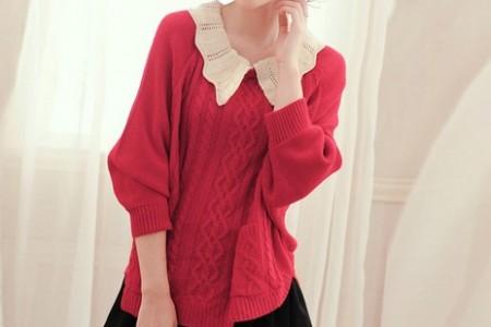 秋季时尚第一款:毛衣+裙子