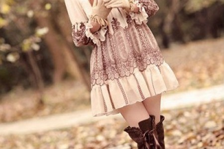 可爱的瓷娃娃迷人的春装